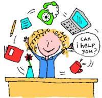 A Teacher Sitting Behind a Desk