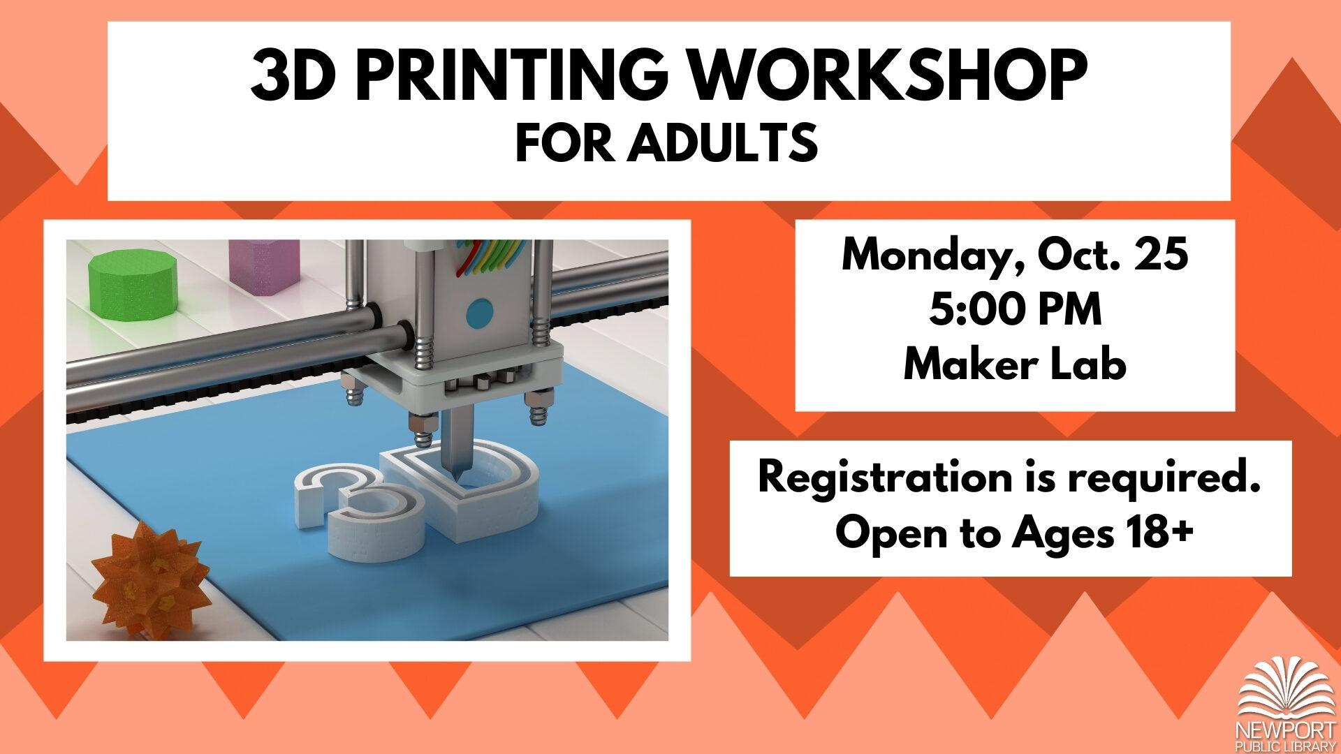 3D Printing Workshop for Adults